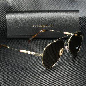 Burberry Light Gold Aviator 57mm Sunglasses